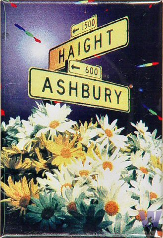 Haight Ashbury Street Sign Magnet