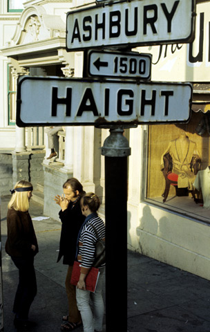 Haight Ashbury Street Sign Premium Vintage Print