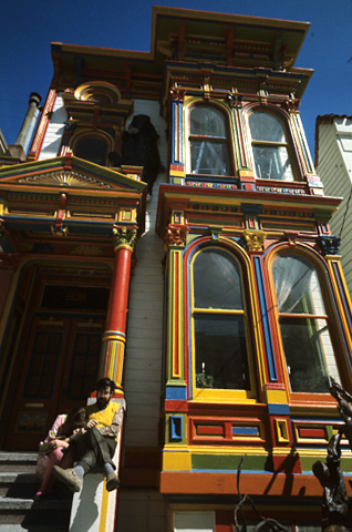 Haight Ashbury Victorian House Fine Art Print
