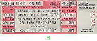 Hall &amp; Oates 1980s Ticket