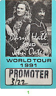 Hall &amp; Oates Backstage Pass
