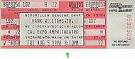 Hank Williams Jr. 1980s Ticket