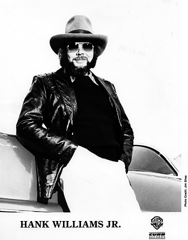 Hank Williams Jr. Promo Print