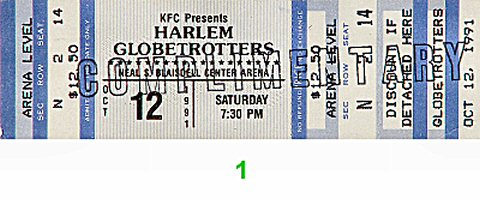 Harlem Globetrotters 1990s Ticket