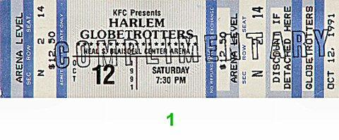 Harlem Globetrotters Vintage Ticket