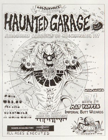 Haunted Garage Handbill
