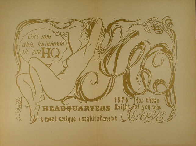 Headquarters Clothing Store Poster