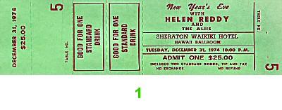 Helen Reddy1970s Ticket