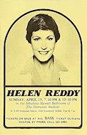 Helen Reddy Handbill