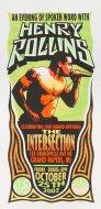 Henry Rollins Handbill