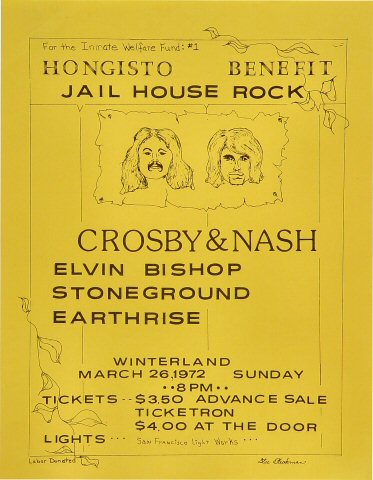 Hongisto Benefit: Jail House Rock Handbill