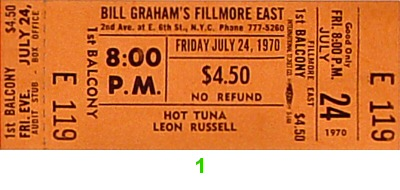 Hot Tuna1970s Ticket