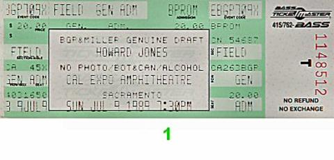 Howard Jones Vintage Ticket