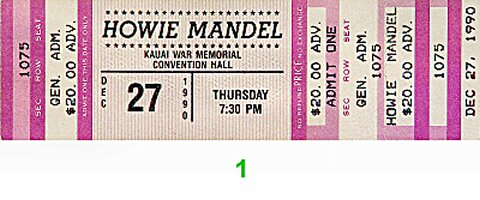 Howie Mandel 1990s Ticket