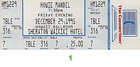 Howie Mandel1990s Ticket