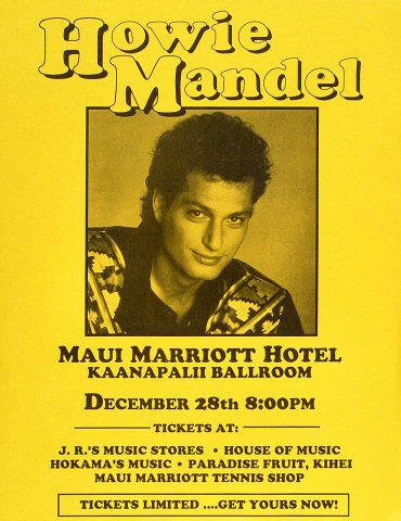 Howie MandelHandbill