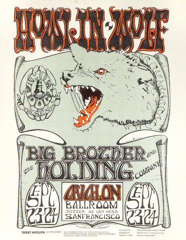 Howlin' Wolf Handbill