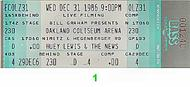 Huey Lewis &amp; the News 1980s Ticket