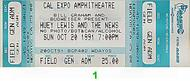 Huey Lewis &amp; the News 1990s Ticket