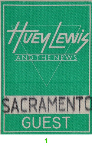 Huey Lewis & the News Backstage Pass