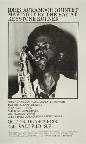 Idris Ackamoor Quintet Poster
