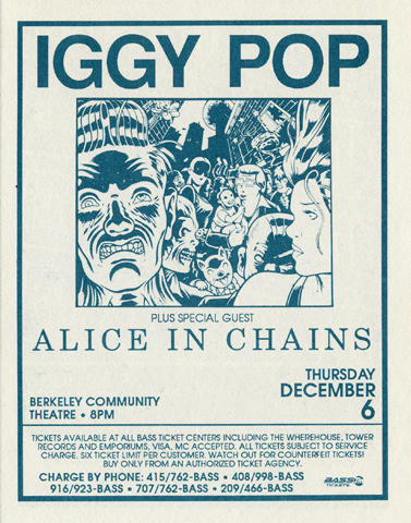 Alice in Chains Handbill