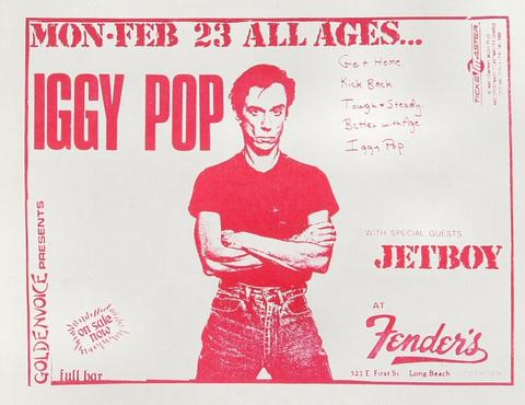 Iggy Pop Handbill