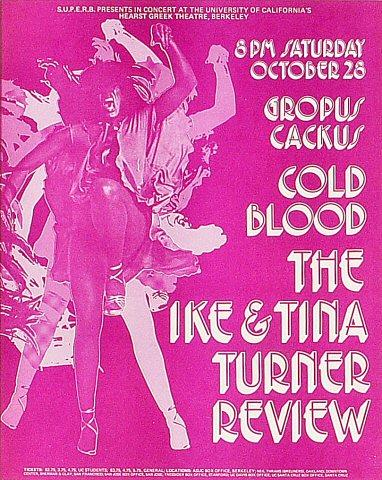 Ike &amp; Tina Turner Handbill