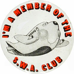 I'm a Member of the S.W.A. Club Vintage Pin