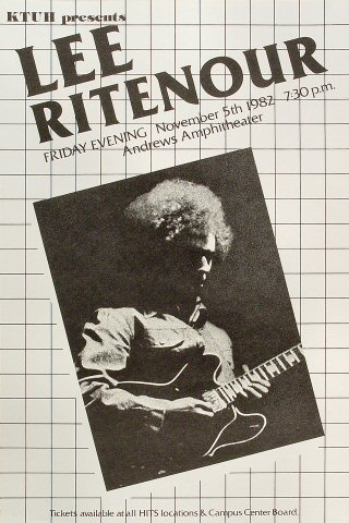 "Lee Ritenour Poster from Andrews Amphitheatre on 05 Nov 82: 14"" x 21"""