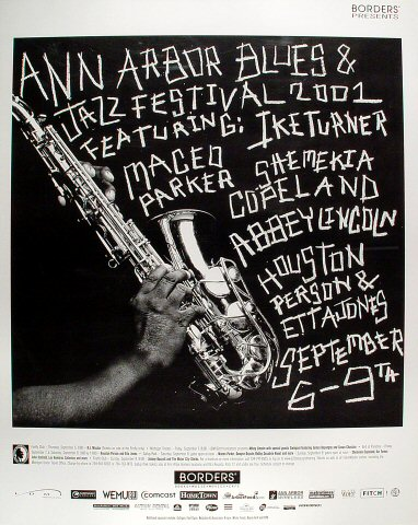 "Abbey Lincoln Poster from Ann Arbor on 06 Sep 01: 24"" x 30"""