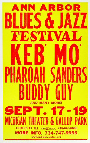 "Buddy Guy Poster from Ann Arbor on 17 Sep 99: 14"" x 22"""