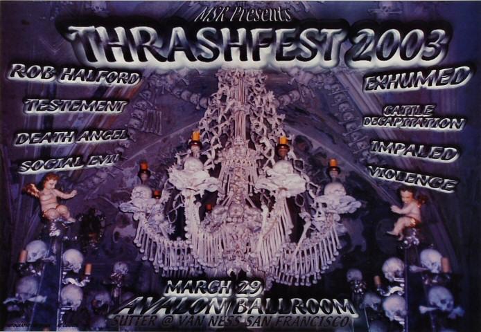 "Rob Halford Poster from Avalon Ballroom on 29 Mar 03: 13"" x 15 1/2"""