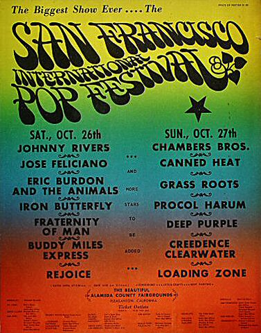 "Johnny Rivers Poster from Alameda County Fairgrounds on 26 Oct 68: 22 3/4"" x 29"""