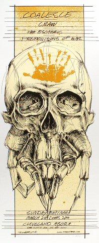 """Coalesce Poster from Agora Ballroom on 24 Mar 02: 13 3/4"""" x 32 7/8"""""""