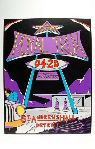 "Royal Trux Poster from St. Andrew's Hall on 28 Apr 95: 22 1/2"" x 35"""