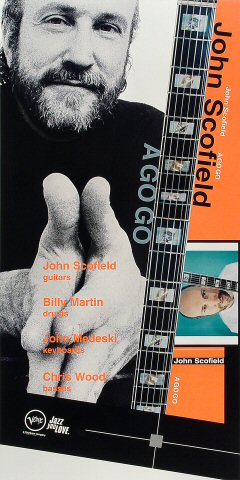 "John Scofield Poster from Agnes Flanagan Chapel on 21 Nov 98: 12"" x 24"""