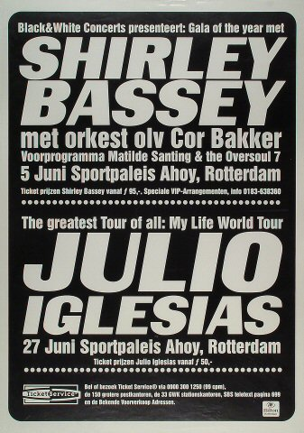 "Shirley Bassey Poster from Ahoy on 05 Jun 99: 23 3/8"" x 33 1/8"""