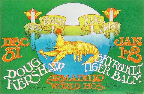 "Doug Kershaw Handbill from Armadillo World Headquarters on 31 Dec 70: 8 1/2"" x 11"""