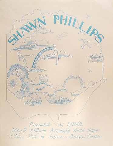 "Shawn Phillips Poster from Armadillo World Headquarters on 12 May 72: 17"" x 22"""