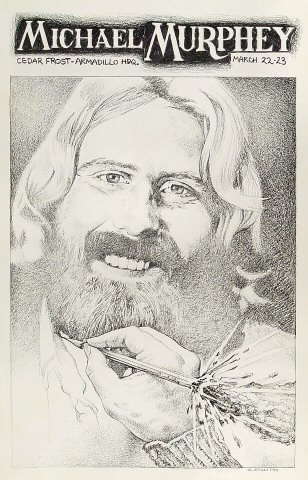 "Michael Martin Murphey Poster from Armadillo World Headquarters on 22 Mar 74: 11"" x 17"""