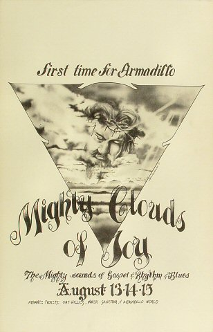 "The Mighty Clouds of Joy Poster from Armadillo World Headquarters on 13 Aug 75: 11"" x 17"""