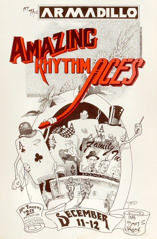 "The Amazing Rhythm Aces Poster from Armadillo World Headquarters on 11 Dec 75: 11 1/2"" x 17 1/2"""