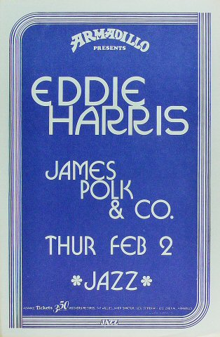 "Eddie Harris Poster from Armadillo World Headquarters on 02 Feb 78: 11 1/2"" x 17 1/2"""