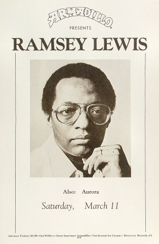 "Ramsey Lewis Poster from Armadillo World Headquarters on 11 Mar 78: 11"" x 17"""