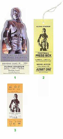 Michael Jackson 1990s Ticket from Aloha Stadium on 03 Jan 97: Ticket One