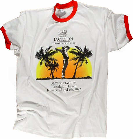 Michael Jackson Men&#39;s Vintage T-Shirt from Aloha Stadium on 03 Jan 97: X Large