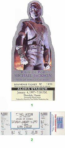 Michael Jackson 1990s Ticket from Aloha Stadium on 04 Jan 97: Ticket One