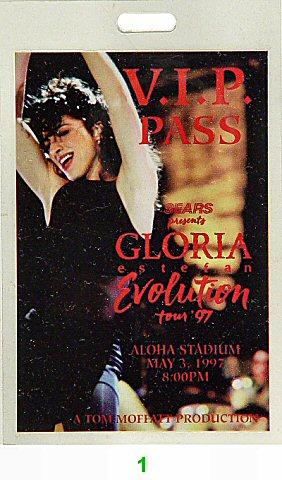 Gloria Estefan Laminate from Aloha Stadium on 03 May 97: Laminate 1