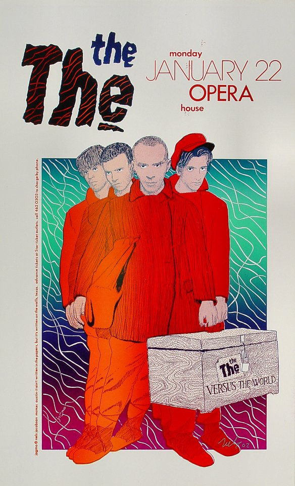 """The The Poster from Austin Opera House on 22 Jan 90: 10 3/8"""" x 17"""""""